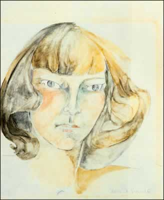 Zelda Fitzgerald, self-portrait